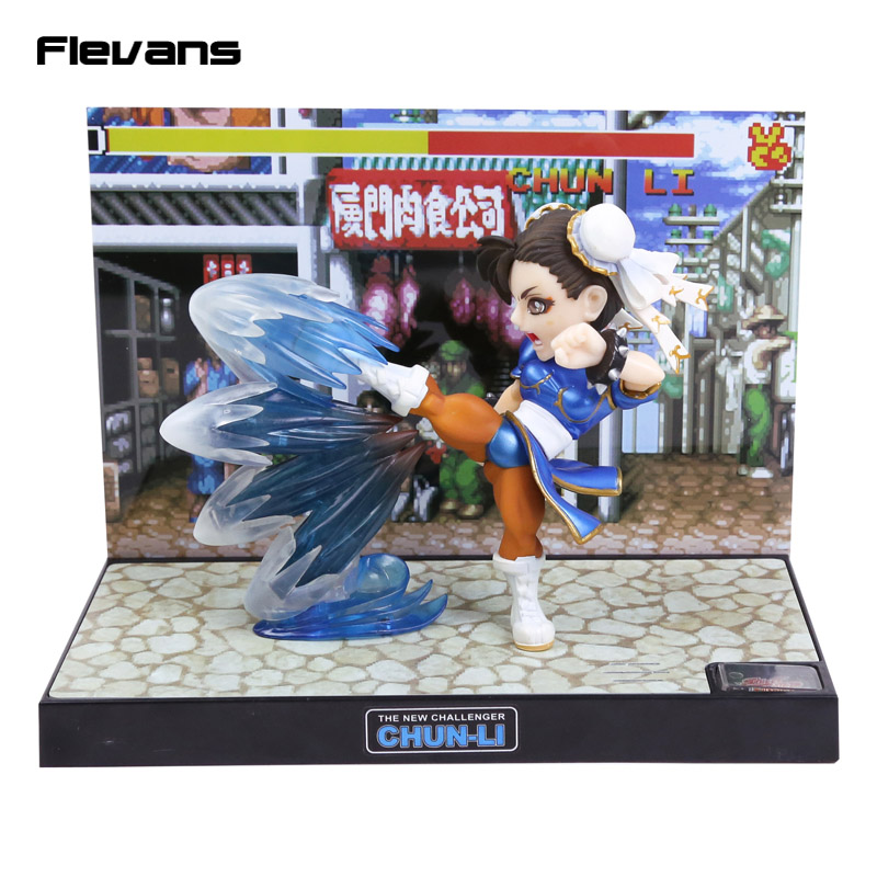 Street Fighter The New Challenger Chun Li PVC Figure Collectible Model Toy with Light & Sound 15cm Boxed free shipping cute 7 game street fighter the new challenger chun li chun li boxed 17cm pvc action figure collection model toy