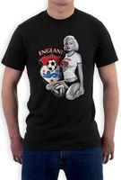 2018 Men T Shirt Fashion O Neck T Shirt Marilyn Monroe England Soccers T Shirt Footballer