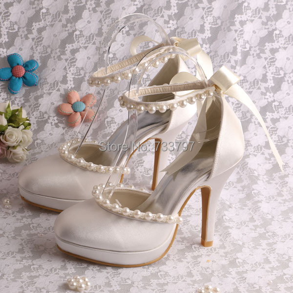 (20 Colors)Hot Selling Summer Sweet Shoes 10CM for Women Wedding Off-white Satin