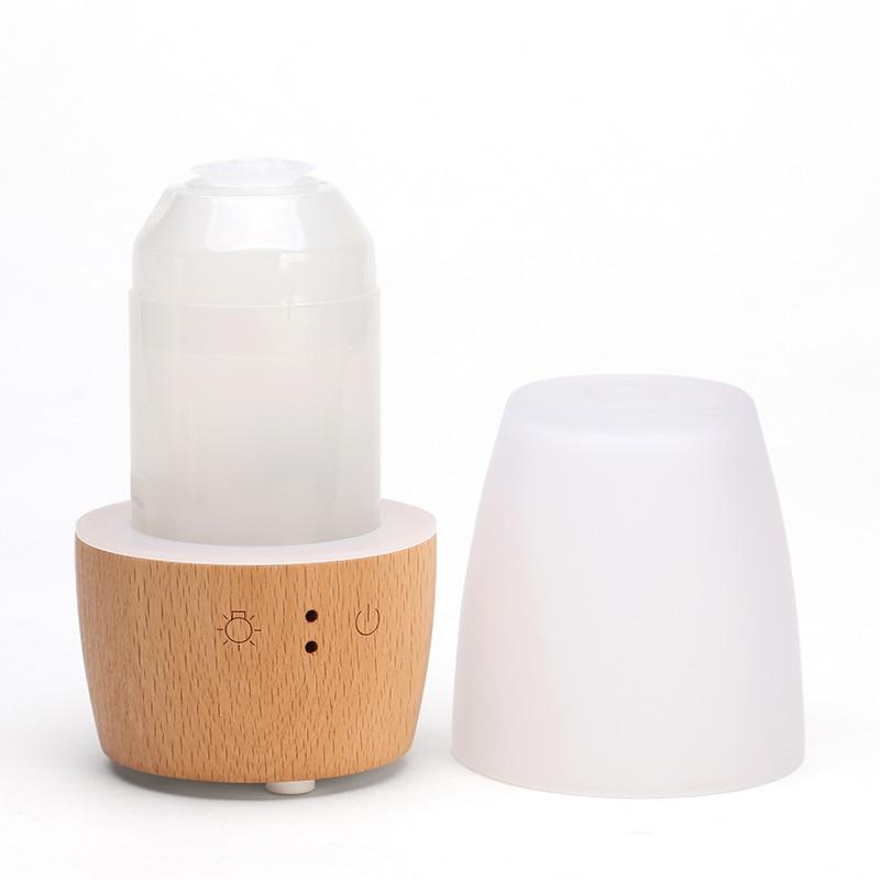 220 V madera romántica automático Aroma aceite esencial lámparas enchufe en Mini luz nocturna humidificador purificador de aire pulverizador regalo hogar decoración - 5