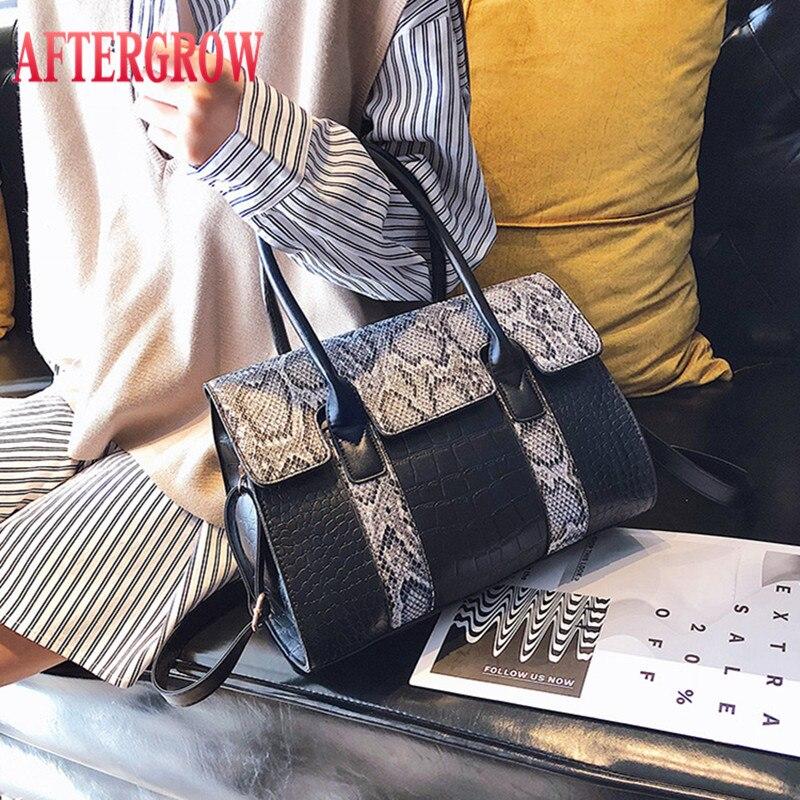 Alligator Handbag Women Snake Skin Crocodile Print Pu Leather Large For Lady Messenger Bags Female Cross Body Shoulder Totes Bag