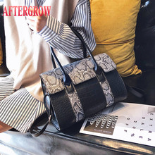 Alligator Handbag Women Snake Skin Crocodile Print Pu Leather Large For Lady Messenger Bags Female Cross Body Shoulder Totes Bag