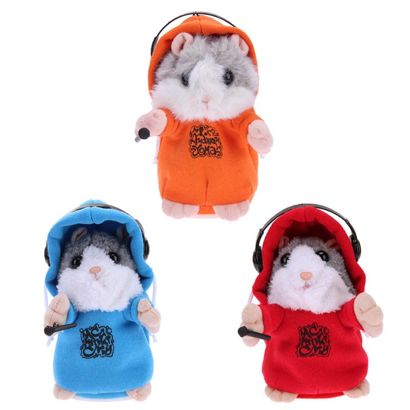 Electronic Talking Hamster Toy Baby Learn To Speak Plush Sound Repeat Pet Toy Kids Educational Toy Children Gift for Girl Boy 2018 talking hamster mouse pet plush toy learn to speak electric record hamster educational children stuffed toys gift 15cm