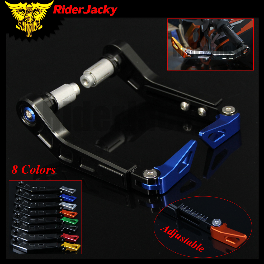 RiderJacky <font><b>7</b></font>/8 inch Motorcycle HandleBar Grip Brake Clutch Lever Protector Guard For Yamaha YZF R1 YZF R6 YZF R3 MT-10 MT-09 image