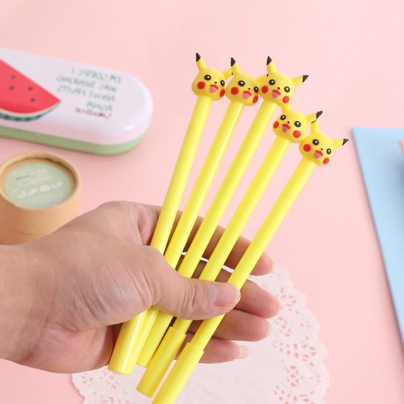 24 pcs coreano criativo papelaria elf amarelo caneta neutra kawaii material escolar caneta para escrever material