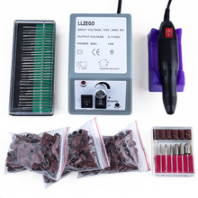 Professional Electric Nail Drill Pedicure Manicure Machine 20000RPM + 30pcs Nail Art File Nail Drill Bits +150pcs Sanding
