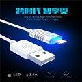 Для iPhone 6 IOS 9 Кабель Освещения Быстрое Зарядное Устройство Передачи Данных адаптер Usb-кабель 100 СМ LED Смарт Зарядки Для iPhone iPad IOS