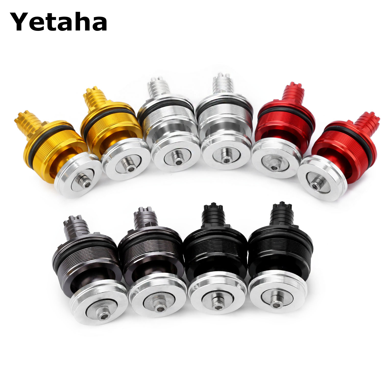 1Pair Motorcycle Preload Adjusters Fork Bolts Cap 41MM CNC Aluminum For Yamaha YZF R3 2015 2016 YZF R25 2013 2014 High Quality