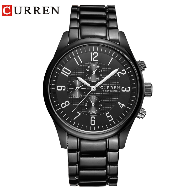 CURREN Classic Fashion Quartz Men Watches Full Steel Sports Wrist Watch Waterproof Male Clock Relogio Masculino Reloj Hombre