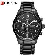 CURREN Classic Fashion Quartz Men Watches Full Steel Sports Wrist Watc
