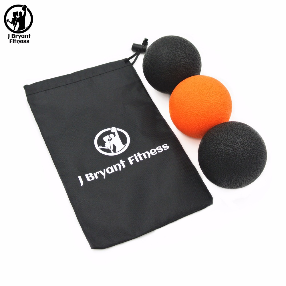 Set of 2 Fitball Massage Lacrosse Ball with Carry Bag Instant Muscle Pain Relief Yoga Trigger Point Treatments Fitness Pain Ball footful spiky massage ball trigger point sport fitness hand foot pain relief muscle relax apparatus unisex hard 6 colors