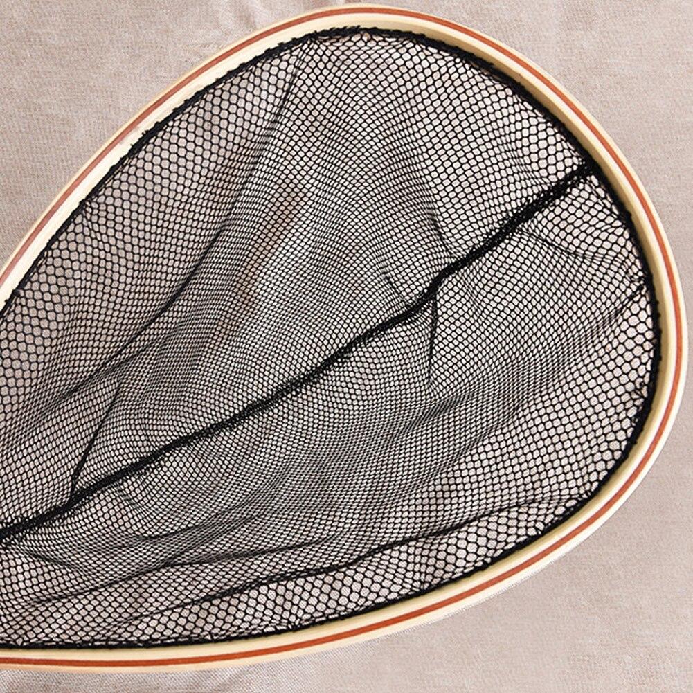 Image 4 - Горячее предложение, деревянная ручка, резина/нейлоновая сетка для ловли нахлыстом, сачок для ловли-in Рыболовная сеть from Спорт и развлечения