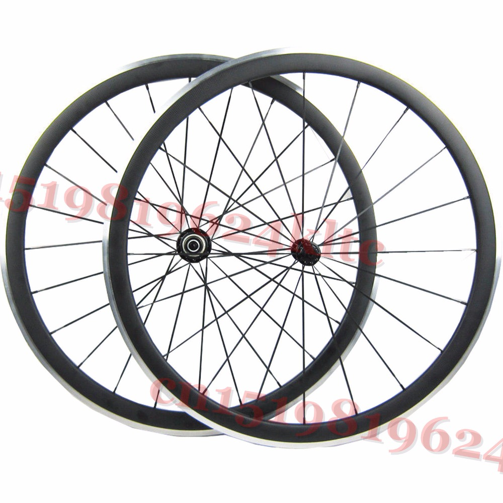 Black Spokes 20H/24H Road Bike 700c Carbon Alloy Wheels 38mm Clincher with Black Novatec Hubs A291/F482SB far sports carbon wheels 50mm clincher 23mm wide with novatec hub and sapim spokes novatec carbon wheels fsc50cm 23 700c