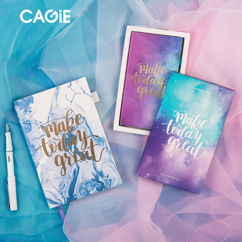 2019 programa organizador planificador A5 y A6 cuaderno diario de las páginas en inglés nota horario manual de oficina de viajes Writtng nota libros