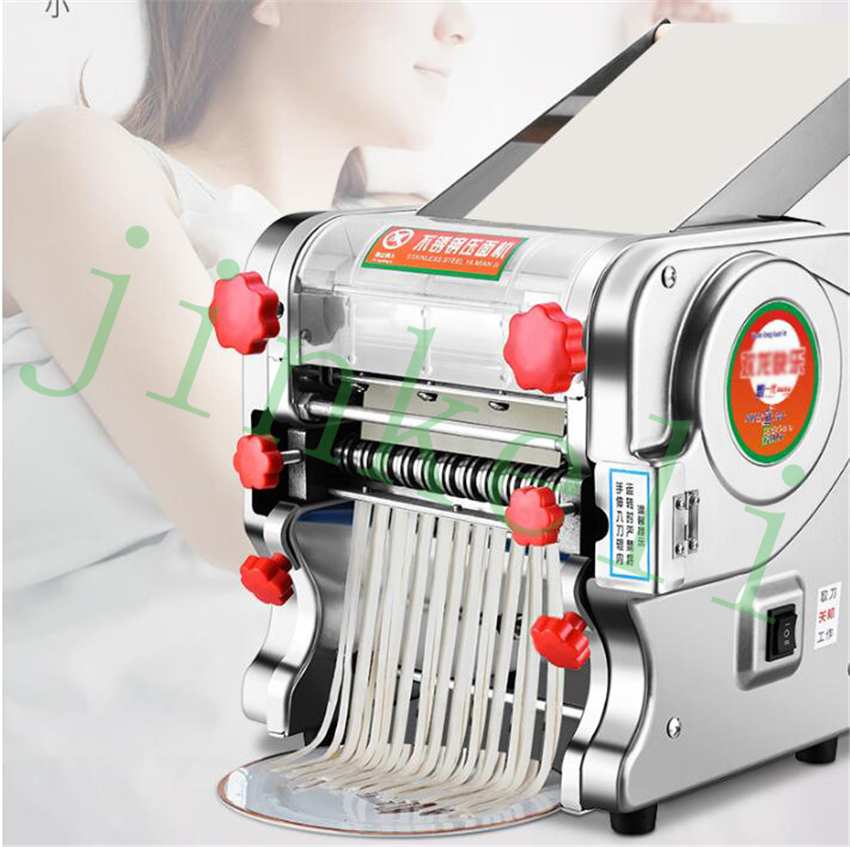 commercial 2mm ,6mm,18mm Electric noodles making pressing machine pasta maker noodle cutting machine dough roller home use 35 40kg h commercial pasta machine electric pasta noodle maker machine household noodles machine with best quality