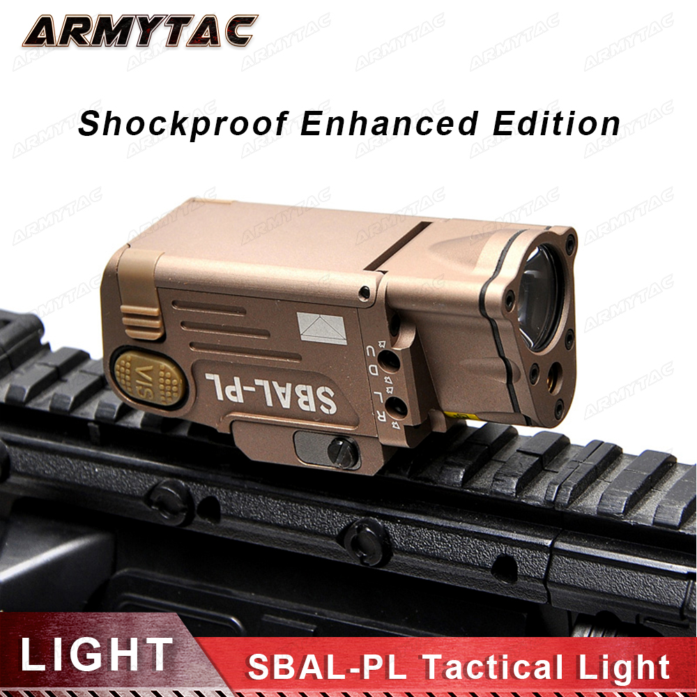 ArmyTac Tactical Laser Flashlight SBAL-PL Hunting Weapon Light Combo Red Laser Pistol Constant & Strobe Gun Light Picatinny Rail night evolution wmx200 tactical gun light led flashlight strobe remote tail switch ir light for picatinny rail spotlight hunting