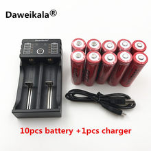 2018 Brand new battery 18650 3.7 V 9900 MAH Li ion rechargeable battery 18650 batery +1pcs 18650 battery charger intelligent(China)