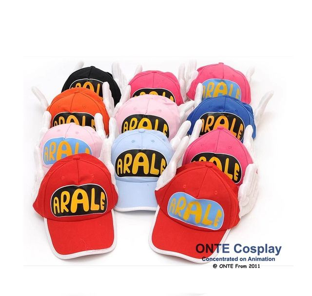 15 Colors Lovely Anime Dr. Slump Arale 's Hat with Angel Wings Cosplay Props Collection Cap for Adult + Free Glasses Frame