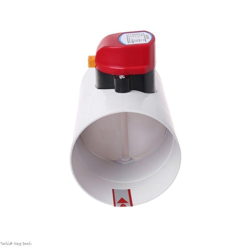 Image 4 - 220V Plastic Electric Damper Check Valve 110mm Air Volume Control Valves For Ventilation PipeValve   -