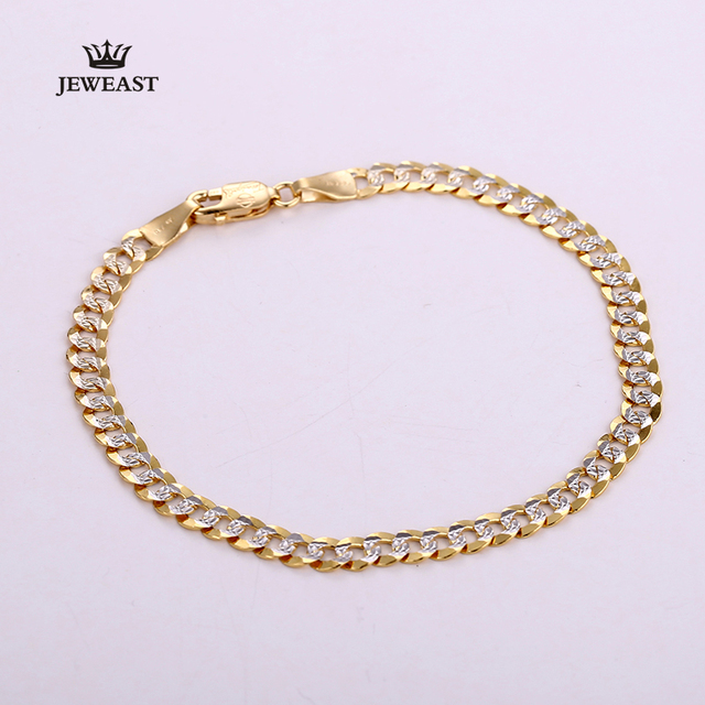 18K Pure Gold Bracelet Real AU 750 Solid Gold Bangle Good Beautiful Upscale Trendy Classic Party Fine Jewelry Hot Sell New 2020 2