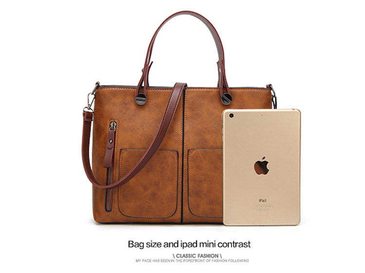 Tinkin Vintage   Shoulder Bag Female Causal Totes for Daily Shopping 15