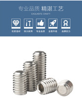 цены 100pcs M6 DIN913 DIN EN ISO4026 Hexagon Socket Set Screws with Flat Point 304 Stainless Steel Hex Socket Grub Screw