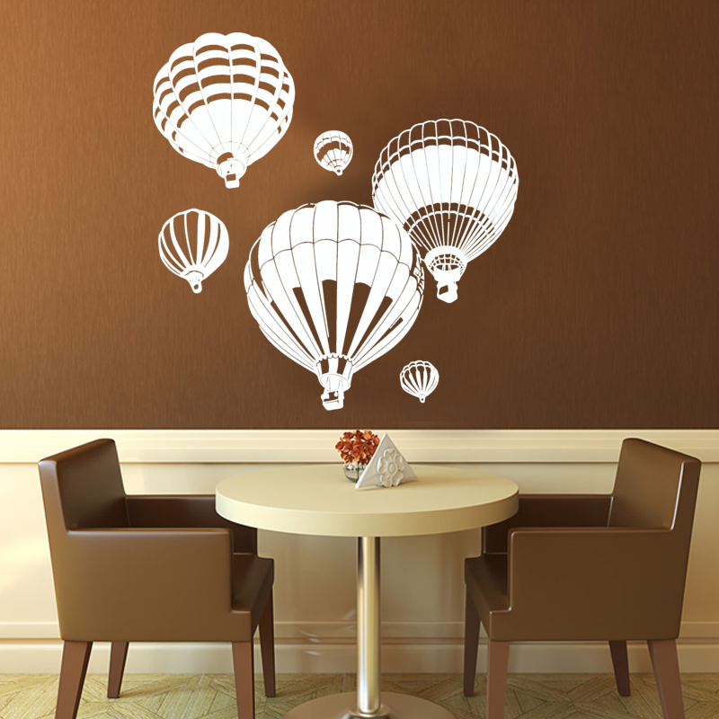 Hot Air Balloons Wall Stickers Removable DIY Home Decor