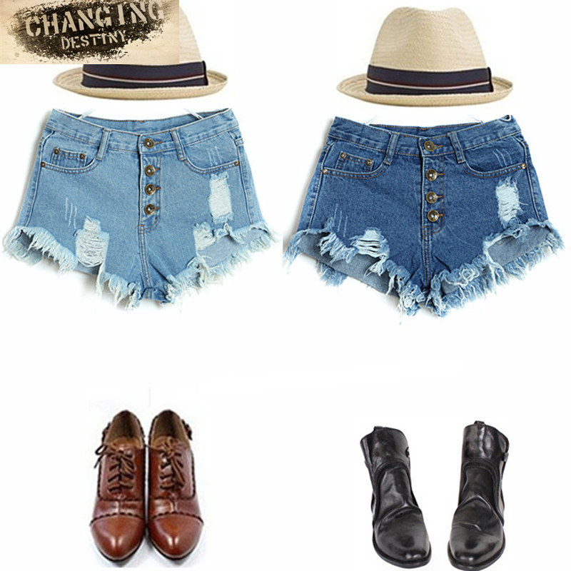 S-XL New Arrival Casual Summer Hot Sale Denim Women Shorts High Waists Fur-lined Leg-openings Plus Size Sexy Short Jeans