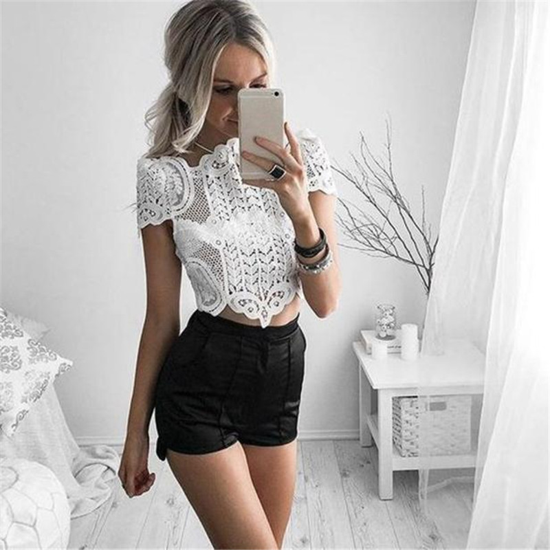 snowshine YLIW Sexy Womens Summer Lace Crochet Top Blouse Shirt FREE SHIPPING