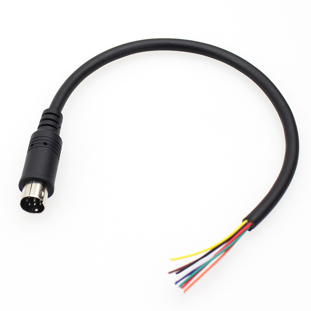 Breakout <font><b>Cable</b></font> Yaesu CT-62 CAT <font><b>Cable</b></font> <font><b>8</b></font> <font><b>Pin</b></font> Mini <font><b>Din</b></font> Male Serial Adapter for Yaesu band data cat linear tuner FT-897 FT-897D image