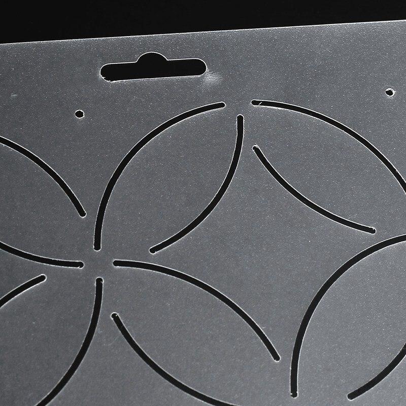 Kiwarm DIY semi transparente monedas forma stencil plástico Quilting ...