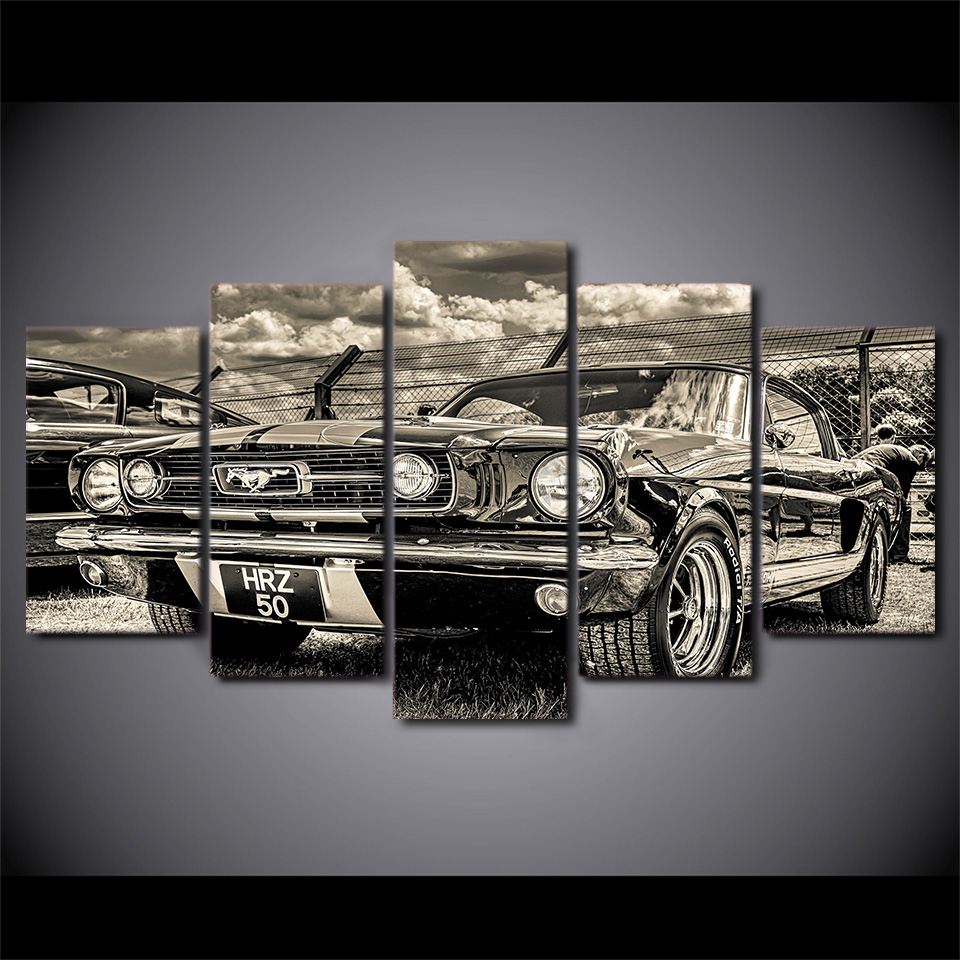 Artryst Home Decor Modular Pictures 5 Panel Sports Car Print Painting For Living Room Poster Frame High Quality Canvas jcyg 90 in Painting Calligraphy from Home Garden