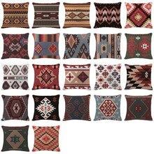 Bohemian Throw Pillows Brown Cushions Decorative Custom Linen Comfortable Cover Cushion Geometric Home Pillowcase