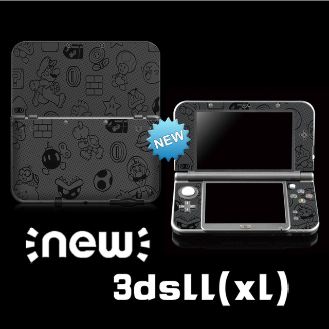 ป้องกันสติกเกอร์ผิวไวนิลจำกัดSuper Maroสีสติกเกอร์สำหรับNintendo NEW 3DS LL/ 3DS XL