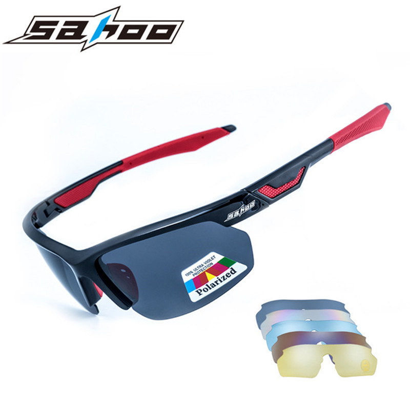 2017 Sahoo Polarized Cycling <font><b>Glasses</b></font> Outdoor MTB <font><b>Bike</b></font> Bicycle Sunglasses Unisex Sport Cycling Eyewear Goggles <font><b>5</b></font> Pair Of <font><b>Lens</b></font> image