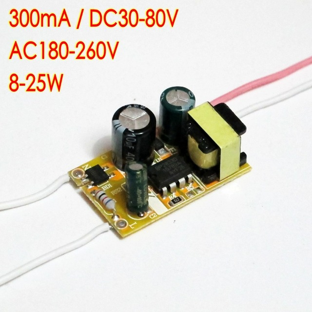 high efficiency 300ma 8 25*1w dc 36v ~ 80v led driver 8w 10w 12w 14w