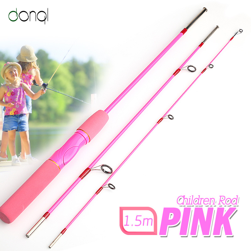 DONQL Fishing Spinning Rods Stream 1.5m Fishing Lure Rod Glass Fiber Telescopic Rod Ultra Light Carp Fishing Pole for beginner|Fishing Rods| |  - title=