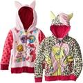 Autumn Girl children zipper hooded outwear children outerwear kids long sleeve hoody kid clothing