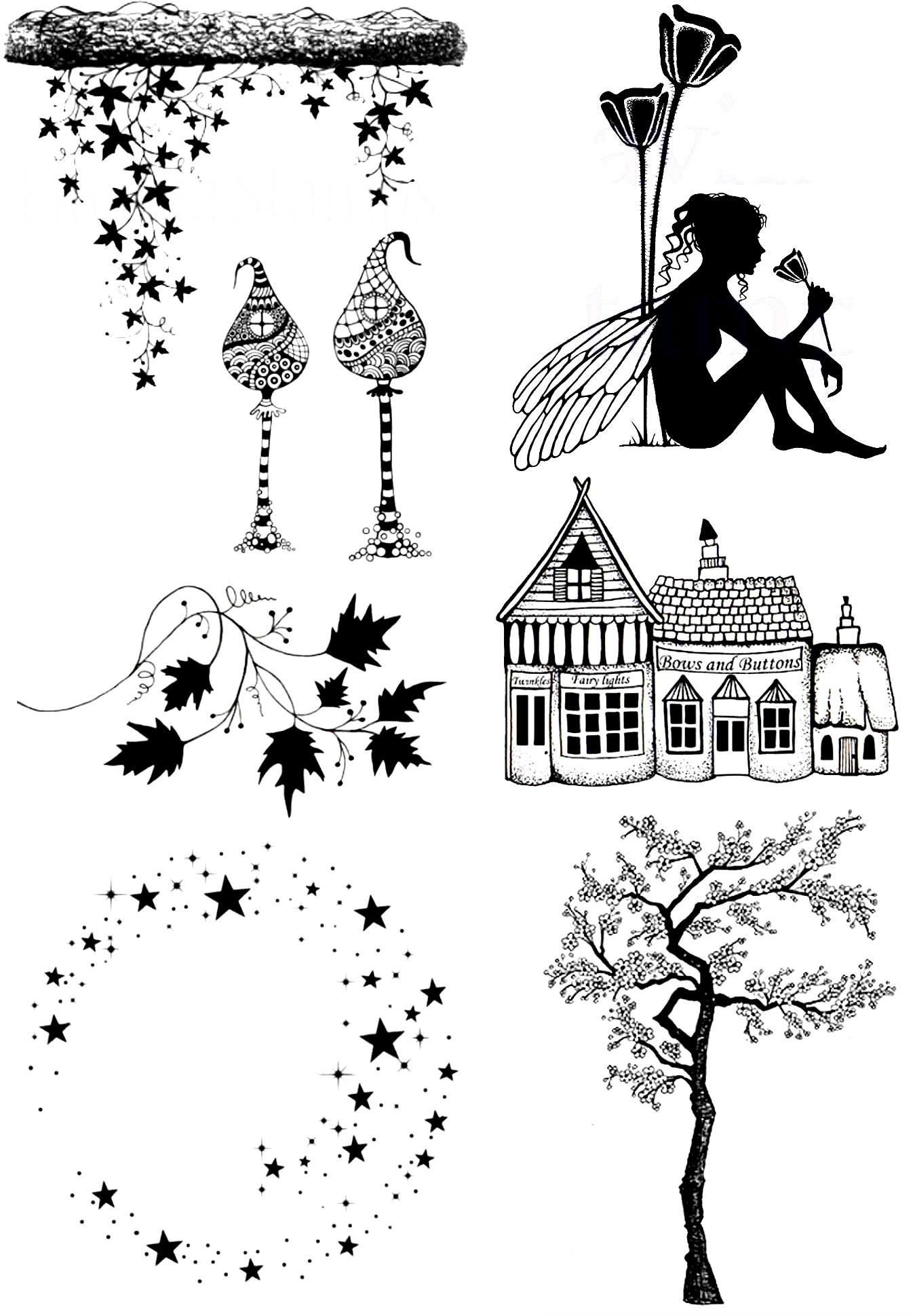 Fairy Sitting Against The Tree Transparent Clear Stamp For DIY Scrapbooking/Card Making/Kids Christmas Fun Decoration Supplies