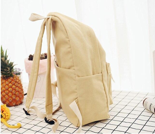 83732dd83c CETIRI Girl Canvas Backpack Korean Style Students School Bag Dual Use  Simple Bright Harajuku Shoulder Bag Female Travel Softback-in Backpacks  from Luggage ...