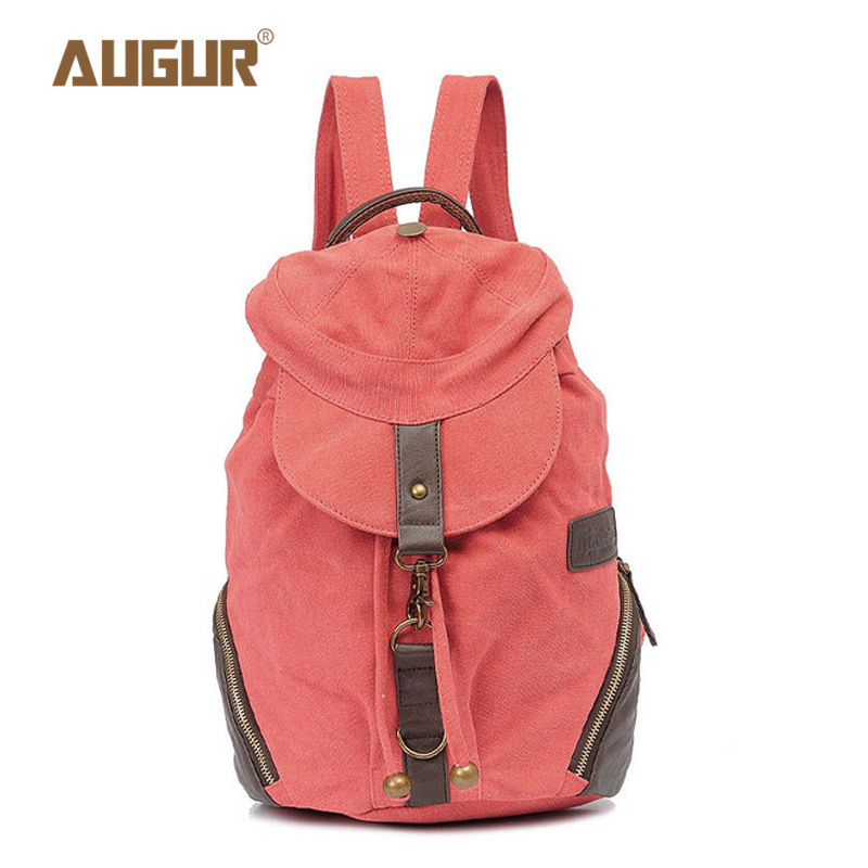 New Term Begins Unique Personality Pink Canvas Backpack Hat Cover Type Backpack School Bags Bolsa Feminina Schoolgirl Mochila
