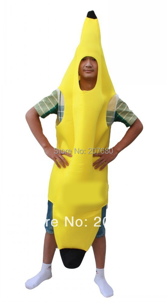 adult fancy dress funny banana costume suit novelty halloween carnival party decorations on aliexpresscom alibaba group - Banana Costume Halloween