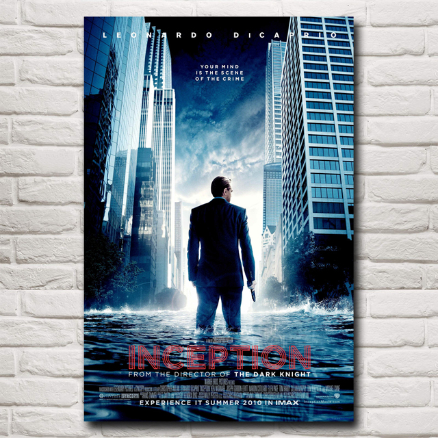 leonardo dicaprio inception movie art silk fabric poster print home