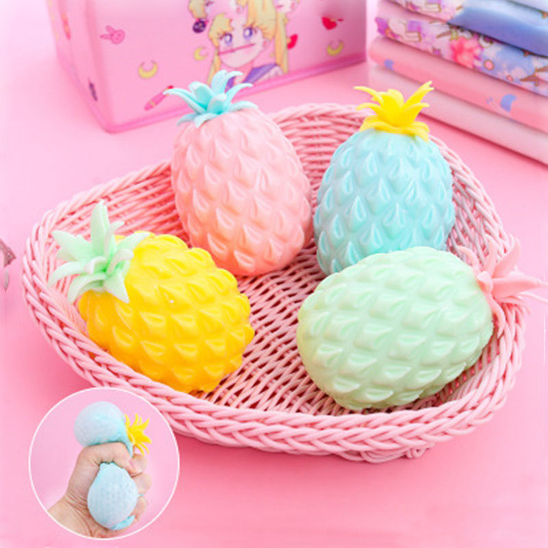 New Pineapple Anti Stress Grape Ball Funny Gadget Vent Decompression Toys For Children Stress Autism Hand Wrist Squeeze Toys