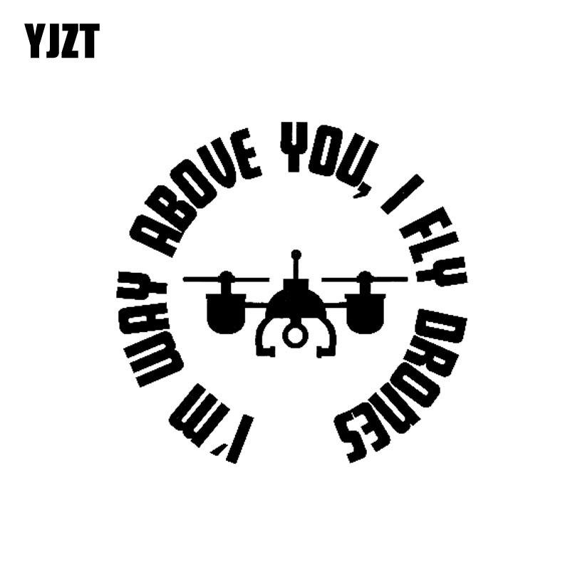 YJZT 15CM*14.7CM Drone Vinyl Decal Car Sticker