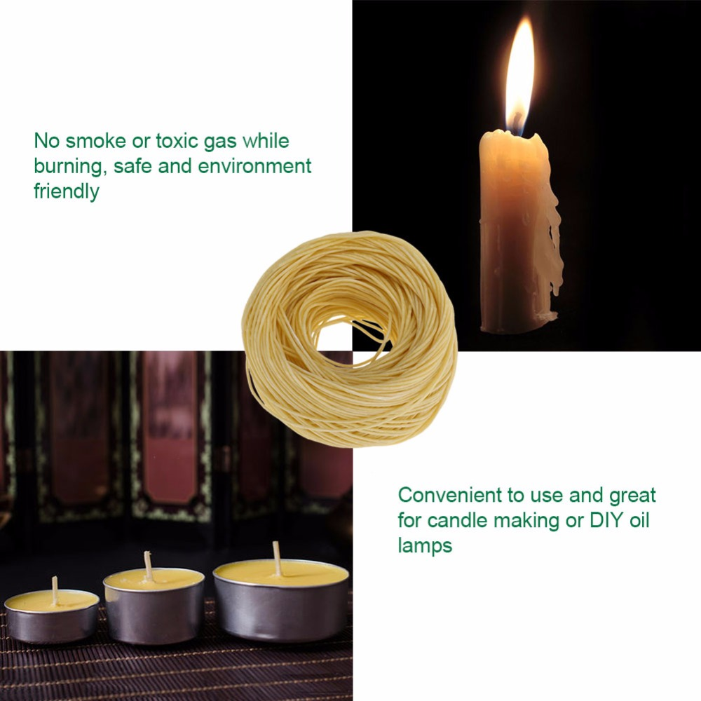 US $4 91 18% OFF|Candle Wick 61m Organic Hemp Candle Hemp Core with Pure  Bee wax for DIY Oil Lamp Candle Core Organic Hemp Candle Wick-in Candle  Wicks