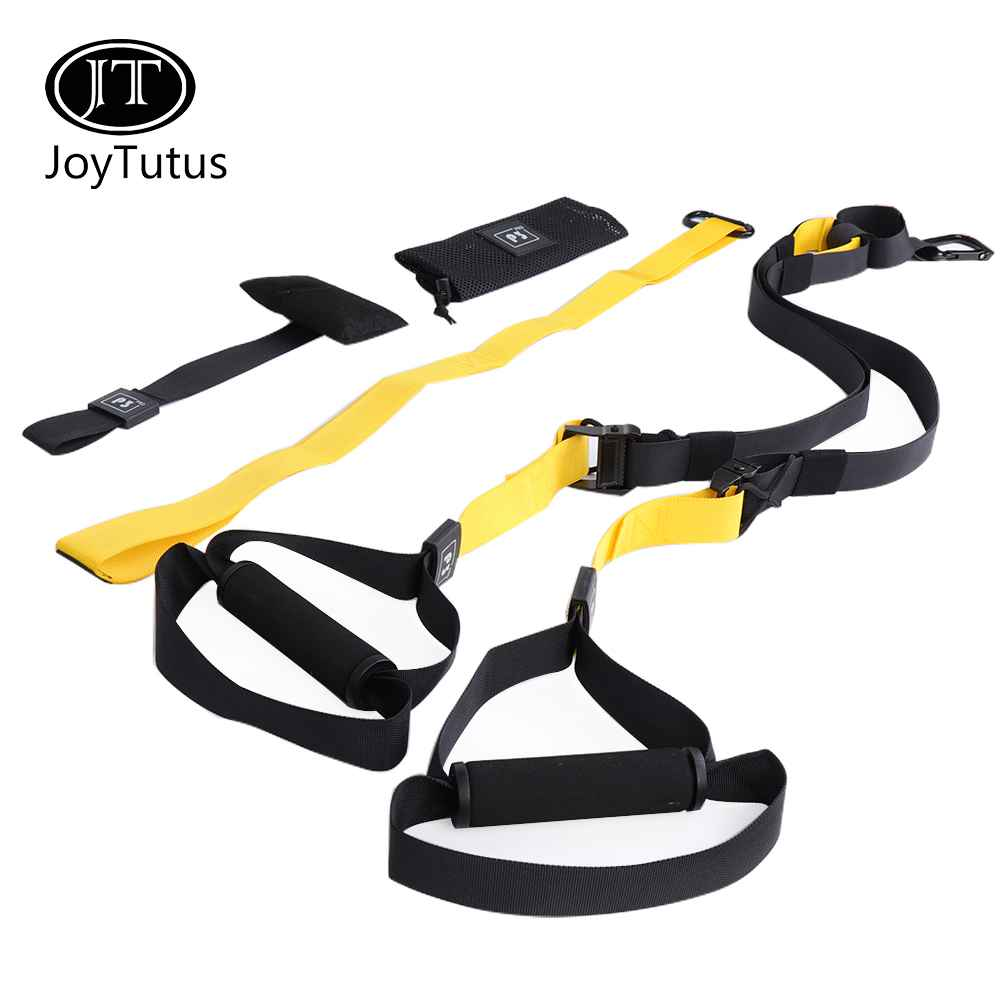 Suspension Resistance Belt Bodyweight Fitness Trainer Strap Training Hanging Bands Full Body Workouts Exercise for Home, Indoor Bodyweight exercise
