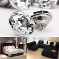 Free Shipping 10pcs/30Pcs 25mm Crystal Rhinestone Diamond Shape Round Buttons Tufting Sofa Upholstery Headboard DIY