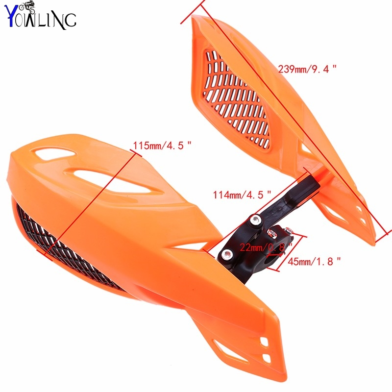 Dirt bike Motorcycle 22mm handlebar brake hand guard For KTM XC XCF XCRW EXCR EXC SXF SXR XCW SX 350 400 450 500 505 525 530 in Covers Ornamental Mouldings from Automobiles Motorcycles