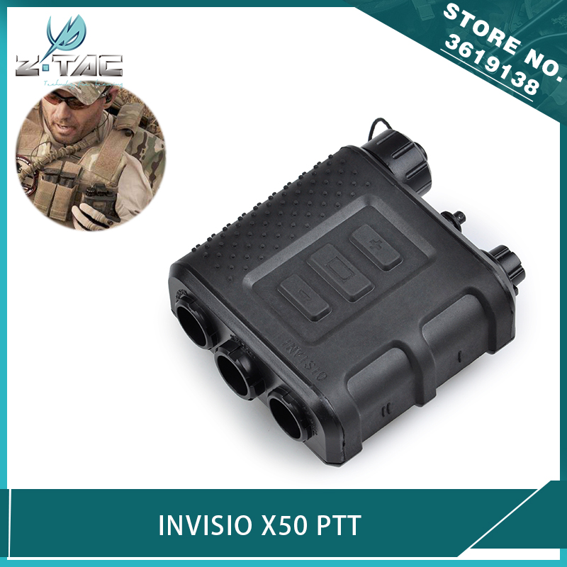 Z-tactical Airsoft Invisio X50 PTT Kenwood For Tactical Military Headset BAOFENG Walkie Talkie Accessories